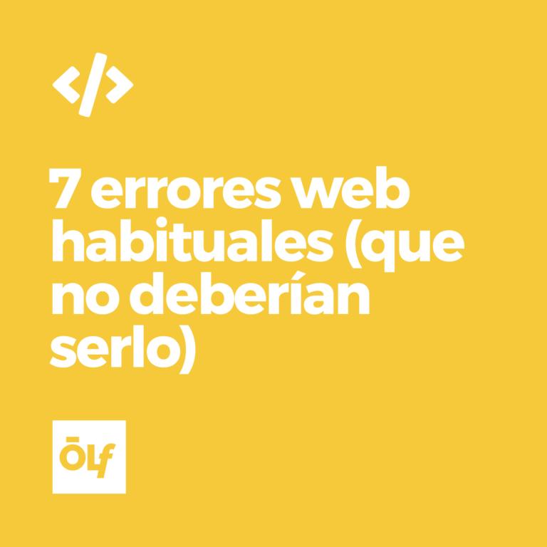 7 errores web habituales