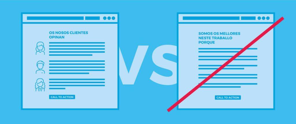 Estratexias de deseño web 4. Reforza a credibilidade social do teu negocio